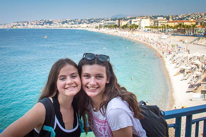 Students on the beaches of Nice