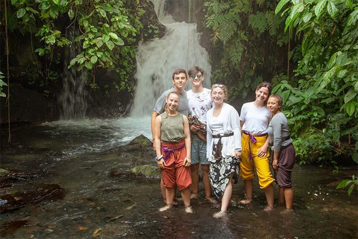 Students at the lagoon