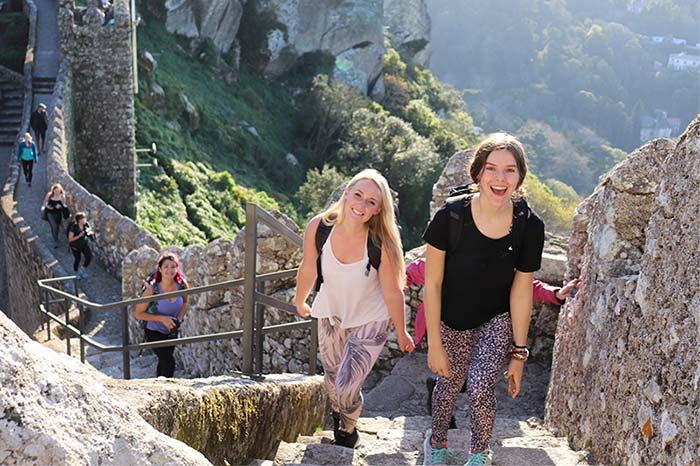 Students overlooking Tucan hills