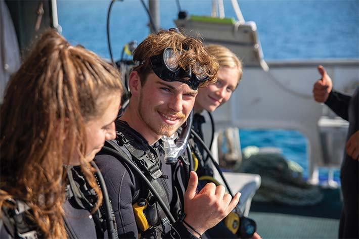 Students preparing to Scuba Dive