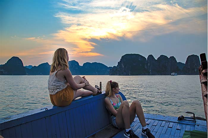 Admiring the sunsets in vietnam