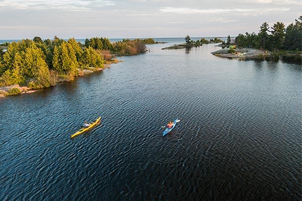 Students kayaking